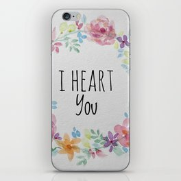 I Heart You iPhone Skin