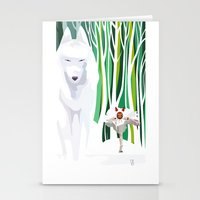 mononoke Stationery Cards featuring Princess Mononoke by youcoucou