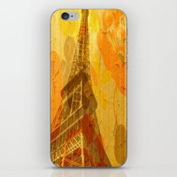 eiffel iPhone & iPod Skins featuring Eiffel by 3crows