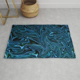Blue Fluid Glass Texture Rug