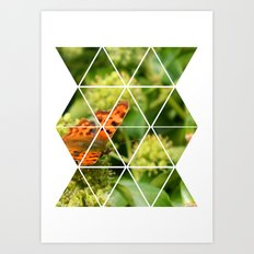 Butterfly Geometric Art Print
