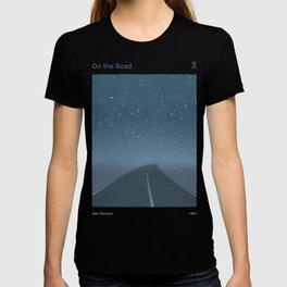 "Jack Kerouac ""On the Road"" - Minimalist literary art design, bookish gift T-shirt"