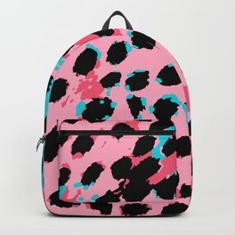 Cheetah Spots in Soft Pink and Blue Backpack