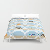 run Duvet Covers featuring Run! by Dustinhy