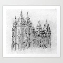 Salt Lake LDS Temple Art Print