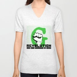 G (green) REVOLUTION Unisex V-Neck