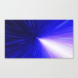 High energy particles traveling through space-time Canvas Print