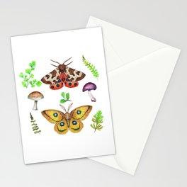 Mariposas, hongos y helechos Stationery Cards