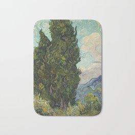 Cypresses by Vincent van Gogh Bath Mat