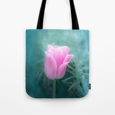Pink Blossom Tulip Tote Bag