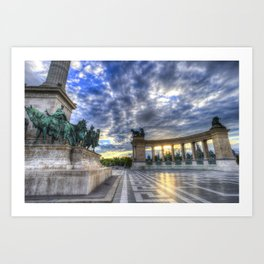 Heroes Square Budapest Sunrise Art Print