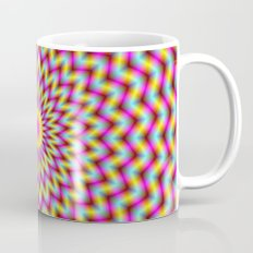 Rosette in Pink Yellow and Blue Mug