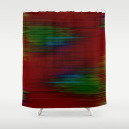 Warp lines abstract pattern Shower Curtain