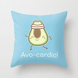 Kawaii Cute Avocado Pun Throw Pillow