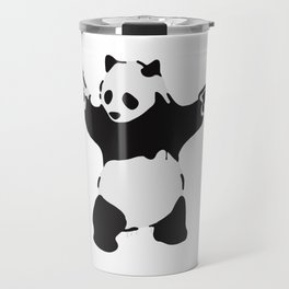 Banksy Pandamonium Armed Panda Artwork, Pandemonium Street Art, Design For Posters, Prints, Tshirts Travel Mug