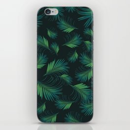 Tropical Night Palms Pattern #1 #tropical #decor #art #society6 iPhone Skin