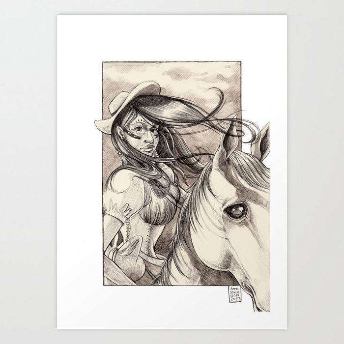Ecuador on Horseback Art Print
