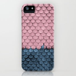 SHELTER / rose and light blue iPhone Case