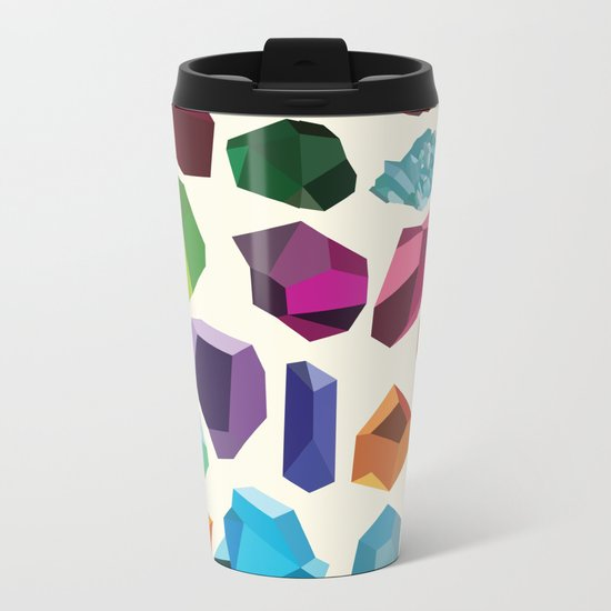 Gemstones Metal Travel Mug