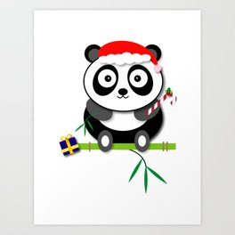 Holiday Panda Art Print