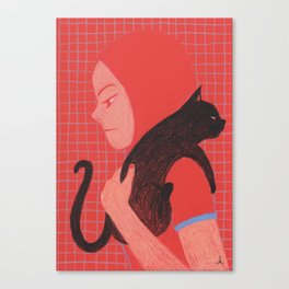 Cat will save the world_! Canvas Print