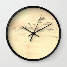 Egrets in Golden Morning Mist Wall Clock