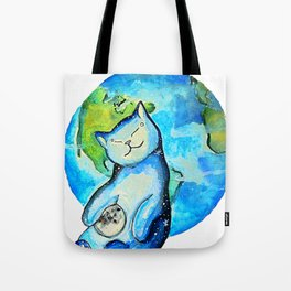 Earth Cat Tote Bag