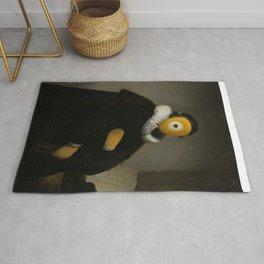 portrait of johann-eyes wtenbogaert Rug