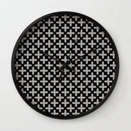 Funky Moder Plus Tiled Patten Wall Clock