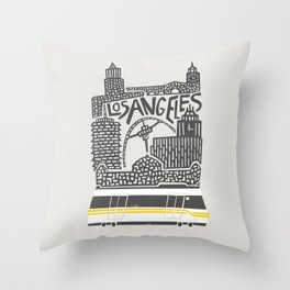 Los Angeles Cityscape Throw Pillow