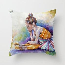 Gloomy Little Dancer by J.Namerow Throw Pillow