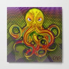 Mellow Yellow Octo Metal Print