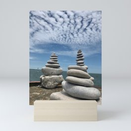 """Rocks and Sky"" Photography by Willowcatdesigns Mini Art Print"