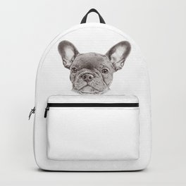 Drawing of french bulldog Backpack