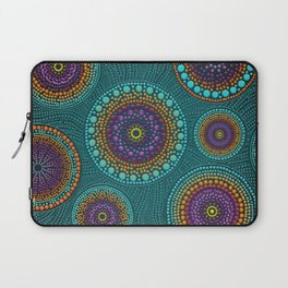 Dot Art Circles Teals and Purples #2 Laptop Sleeve