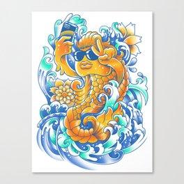 Selfie-ish Fishtail-ish Canvas Print