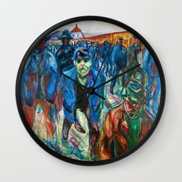Edvard Munch - Workers on their Way Home - Digital Remastered Edition Wall Clock