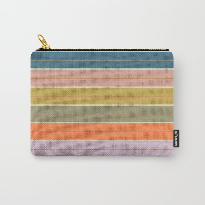 Pastel Stripes Carry-All Pouch