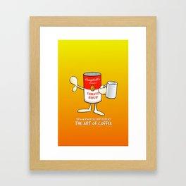 Tomato soup mug (Orange) Framed Art Print