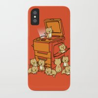 cats iPhone & iPod Cases featuring The Original Copycat by Picomodi