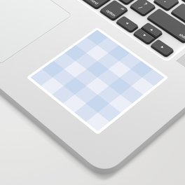 Gingham Pattern - Blue Sticker