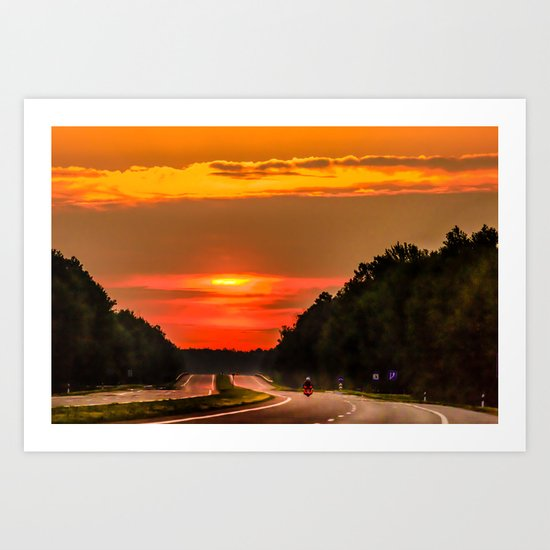 Road to the sun Art Print