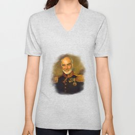 Sir Sean Connery - replaceface Unisex V-Neck