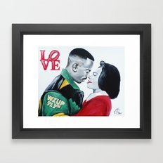 Black Love - Martin & Gina Framed Art Print