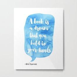 Neil Gaiman, quotes, Sky color Metal Print