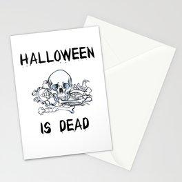 Halloween skeleton is dead skull gift Stationery Cards