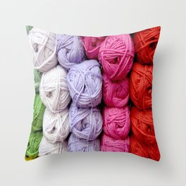 Knitting Yarn Throw Pillow