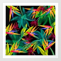 palm trees Art Prints featuring Palm Trees by mark ashkenazi