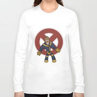cyclops Long Sleeve T-shirts featuring Cyclops by Twisted Dredz