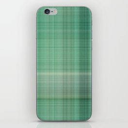Green Checked iPhone Skin